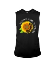 EASILY DISTRACTED BY SUNFLOWERS AND DOGS Sleeveless Tee thumbnail