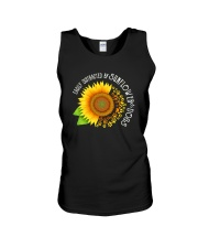 EASILY DISTRACTED BY SUNFLOWERS AND DOGS Unisex Tank thumbnail
