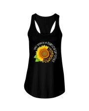 EASILY DISTRACTED BY SUNFLOWERS AND DOGS Ladies Flowy Tank thumbnail
