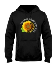 EASILY DISTRACTED BY SUNFLOWERS AND DOGS Hooded Sweatshirt thumbnail
