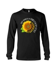 EASILY DISTRACTED BY SUNFLOWERS AND DOGS Long Sleeve Tee thumbnail