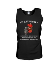 I CAN LOOK YOU DEAD IN THE FACE CHICKEN Unisex Tank thumbnail
