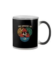 THE ANSWER TO 42 Color Changing Mug thumbnail