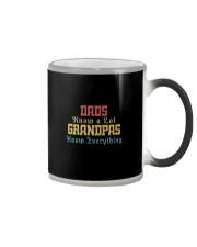 DADS KNOW A LOT GRANDPAS KNOW EVERYTHING Color Changing Mug thumbnail