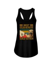 BEST GOLDEN RETRIEVER DAD EVER Ladies Flowy Tank thumbnail