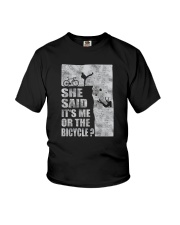 SHE SAID IT'S ME OR THE BICYCLE Youth T-Shirt thumbnail