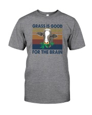 GRASS IS GOOD FOR THE BRAIN Classic T-Shirt front