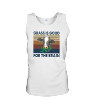 GRASS IS GOOD FOR THE BRAIN Unisex Tank thumbnail
