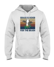 GRASS IS GOOD FOR THE BRAIN Hooded Sweatshirt thumbnail