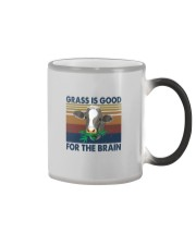 GRASS IS GOOD FOR THE BRAIN Color Changing Mug thumbnail