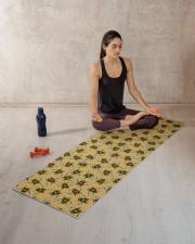 GOLD BEES Yoga Mat 70x24 (horizontal) aos-yoga-mat-lifestyle-18