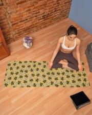 GOLD BEES Yoga Mat 70x24 (horizontal) aos-yoga-mat-lifestyle-19