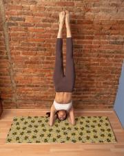 GOLD BEES Yoga Mat 70x24 (horizontal) aos-yoga-mat-lifestyle-20