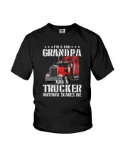 I'M A DAD GRANDPA AND A TRUCKER Youth T-Shirt thumbnail