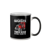I'M A DAD GRANDPA AND A TRUCKER Color Changing Mug tile