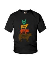 CLUCK BAA OINK MOO FARM ANIMALS Youth T-Shirt thumbnail
