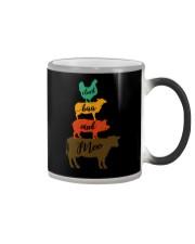 CLUCK BAA OINK MOO FARM ANIMALS Color Changing Mug thumbnail