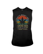 I SMOKE WEED AND I KNOW THINGS Sleeveless Tee thumbnail