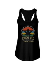I SMOKE WEED AND I KNOW THINGS Ladies Flowy Tank thumbnail