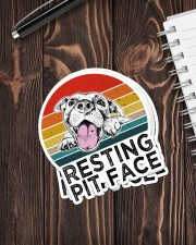 RESTING PIT FACE Sticker - 4 pack (Vertical) aos-sticker-4-pack-vertical-lifestyle-front-05