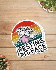 RESTING PIT FACE Sticker - 4 pack (Vertical) aos-sticker-4-pack-vertical-lifestyle-front-07