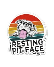 RESTING PIT FACE Sticker - 4 pack (Vertical) front