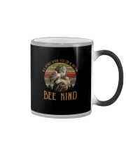 IN A WORLD WHERE YOU CAN BE ANYTHING BEE KIND Color Changing Mug thumbnail
