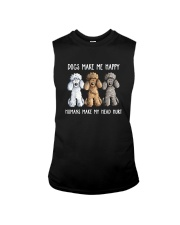 DOGS MAKE ME HAPPY HUMANS MAKE MY HEAD HURT Sleeveless Tee thumbnail