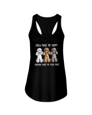 DOGS MAKE ME HAPPY HUMANS MAKE MY HEAD HURT Ladies Flowy Tank thumbnail