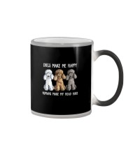 DOGS MAKE ME HAPPY HUMANS MAKE MY HEAD HURT Color Changing Mug thumbnail