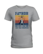 FATHOR FUNNY DAD Ladies T-Shirt thumbnail