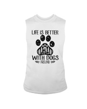 LIFE IS BETTER WITH DOGS AROUND Sleeveless Tee thumbnail