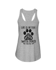 LIFE IS BETTER WITH DOGS AROUND Ladies Flowy Tank thumbnail