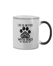 LIFE IS BETTER WITH DOGS AROUND Color Changing Mug thumbnail