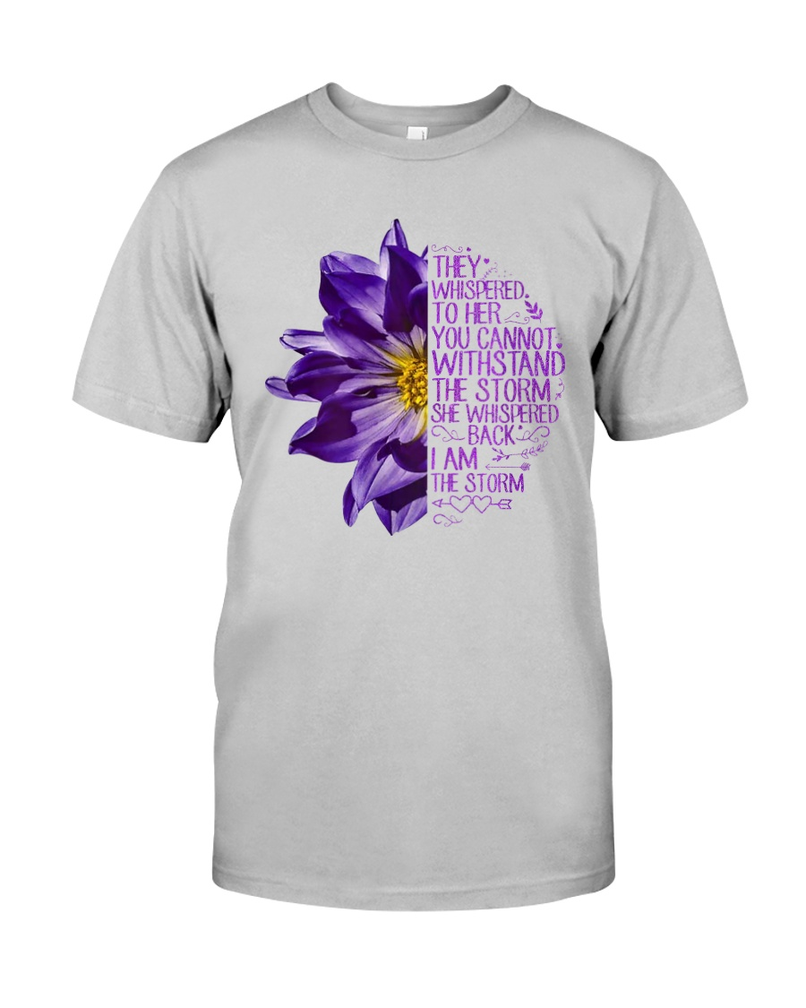 I Am The Storm Purple Anemone Flower Classic T-Shirt