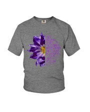 I Am The Storm Purple Anemone Flower Youth T-Shirt thumbnail