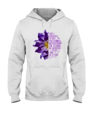 I Am The Storm Purple Anemone Flower Hooded Sweatshirt tile