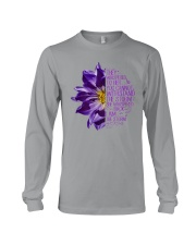 I Am The Storm Purple Anemone Flower Long Sleeve Tee thumbnail