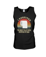 I SURVIVED THE GREAT TOILET PAPER SHORTAGE  Unisex Tank thumbnail