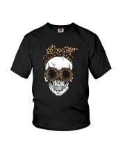 SKULL LEOPARD SUNFLOWER FLORAL FLOWER Youth T-Shirt thumbnail