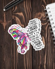 BUTTERFLY BREAST CANCER Sticker - 4 pack (Vertical) aos-sticker-4-pack-vertical-lifestyle-front-05