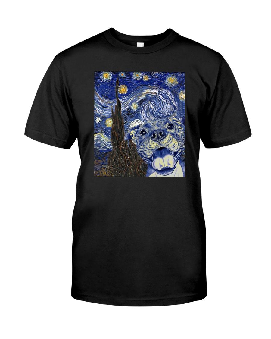 PITBULL VAN GOGH Classic T-Shirt