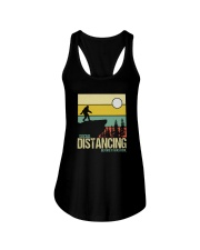 SOCIAL DISTANCING BEFORE IT WAS COOL Ladies Flowy Tank thumbnail