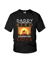 DADDY SON'S FIRST HERO DAUGHTER'S FIRST LOVE Youth T-Shirt thumbnail