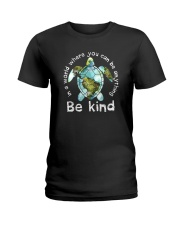 BE KIND TURTLE Ladies T-Shirt thumbnail