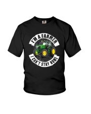 I'M A FARMER I CAN'T SSTAY HOME Youth T-Shirt thumbnail