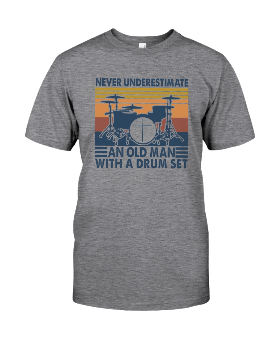 AN OLD MAN WITH A DRUM SET Classic T-Shirt