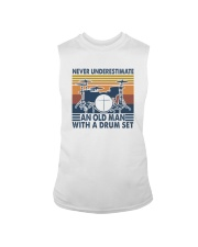 AN OLD MAN WITH A DRUM SET Sleeveless Tee thumbnail