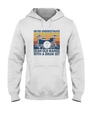 AN OLD MAN WITH A DRUM SET Hooded Sweatshirt thumbnail