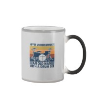 AN OLD MAN WITH A DRUM SET Color Changing Mug thumbnail